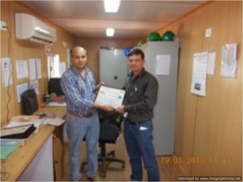 Certificate Distribution-Michelin Outstanding Achievement Of 10 Million Man Hours of safe work.