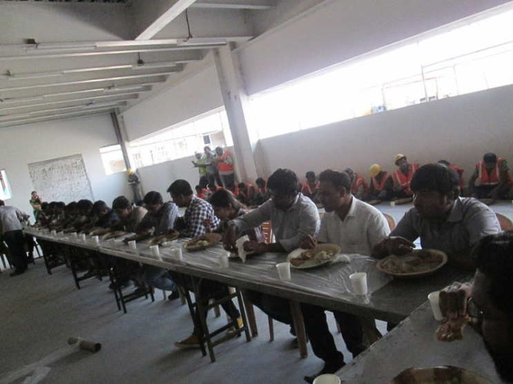 Lunch to site team on structure completion of Chemizol on 20 May 2014